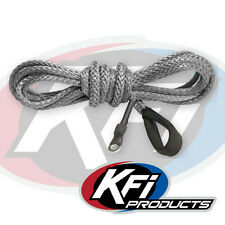 """KFI Products ATV Synthetic Winch 3/16"""" x 12' Plow Cable Rope - SMOKE - SYN19-S12"""