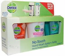 Dettol No Touch Hand Wash System Refills 3 x 250ml Tubs Refill With E45