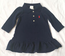 New Baby Ralph Lauren Long-sleeved Polo Dress 9M