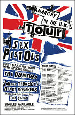 SEX PISTOLS CLASH DAMNED 1976 UK Tour Concert Poster
