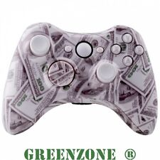 Custom Xbox 360 Hydro Dipped $100 Money Controller Shell Mod Kit And Parts