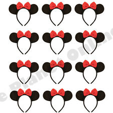 BULK BUY WHOLESALE 12X MINNIE MOUSE EARS BOW HEADBAND FANCY DRESS COSTUME