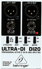 New Behringer Ultra-DI DI20 Direct box Buy it Now! Make Offer! Auth Dealer!