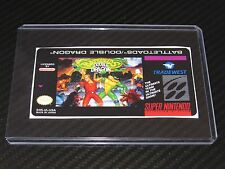 Battletoads & Double Dragon Snes Cartridge Replacement Game Label Sticker Precut