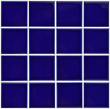 1 SF 3x3 Glossy Cobalt Blue Tile for Countertop Backsplash Pool Sink Bathroom