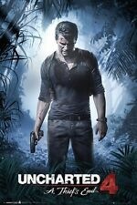 """UNCHARTED 4 POSTER """"LICENSED"""" BRAND NEW """"LARGE SIZE 61cm X 91.5cm"""" A THIEF'S END"""