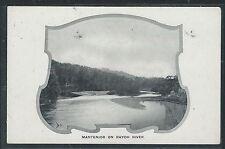 NORTH BORNEO (P2707B) MANTERIOR ON RAYOH RIVER PPC GREEN BACK