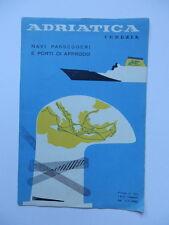NAVE SHIP Adriatica Venezia Lloyd liner paquebot 1963 brochure