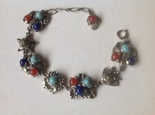 Vintage Miracle Bracelet Sealife, Fish, Crab, Starfish, coloured glass, signed