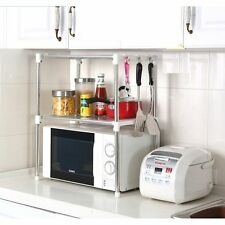 Multifunction Microwave Oven Stainless Steel Shelf Kitchen Storage Rack UK