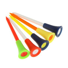 50pcs 83mm High Quality Multi Color Plastic Golf Tees Rubber Cushion Top