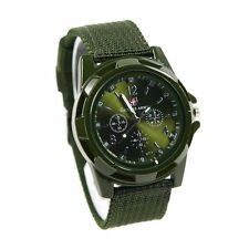 Fabric ARMY Sport Quartz Military Watch Gemius Swiss flag GREEN Camouflage SALE