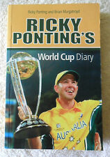 RICKY PONTING CRICKET SIGNED CRICKET WORLD CUP WINNING DIARY BUY AUTHENTIC