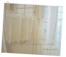 """2y Vintage Embroidered lace Window Valance curtain 36""""W X 12""""L(90x31cm) laceking"""