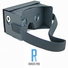 Google Cardboard VR Headset Kit w/ NFC, Lens & Headstrap Virtual Reality Black