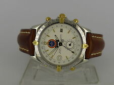 Breitling Duograph World Cup solid gold/SS auto date GMT watch LE 1000pcs in BOX