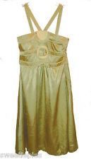 Dress, BCBG Girls, Party-Dressy Green-Gold Shiny Crinkle New NWT, S
