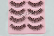 5 Paar Handmade Natural falsche Wimpern False Eyelashes Wimpern Makeup IMAX