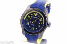 Sport Watch With Blue & Yellow Decorative Dial Silicone Band Water Resistant 30M