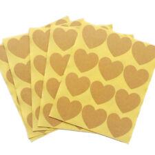 120pcs/10 sheet Heart Shape Kraft Paper Label Sticker Baking Sealing Sticker