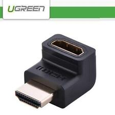 UGREEN 2K*4K 1.4 HDMI Male to Female 90° Angle Adapter Connector Port Saver (UP)