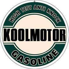 High Test Koolmotor Gasoline Sign 14 Round
