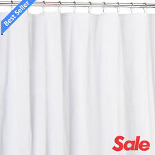 GoodGram Deluxe Hotel Fabric Shower Curtain Liner, White, 70x72