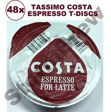 48x TASSIMO COSTA ESPRESSO COFFEE T-DISCS LOOSE FOR LATTE (or CAPPUCCINO)