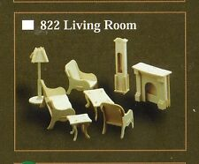 LIVING ROOM FURNITURE KIT IN 12th SCALE FOR DOLLS HOUSE, BRAND NEW