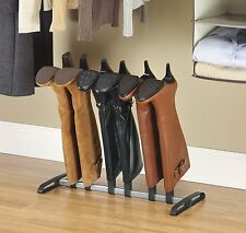 Boot Organizer Holder Rack Closet Storage Hanger 3 Pair Black Shoe Shelf Stand