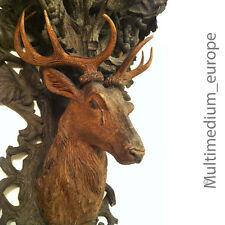 Prachtvolle antike hand geschnitzte Holz Konsole Hirsch figur Holz Schnitzerei