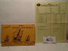 1964 IDEAL HISTORIC SHIP MODELS CATALOG AND PRICE LIST/ORDER FORM