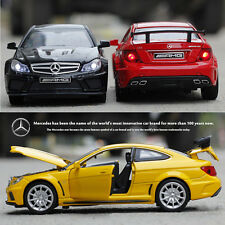 Mercedes Benz C63 AMG Diecast Model Toy Car Sound Light P - Toys Car Collections