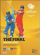 2013 ICC CHAMPIONS Trophy Final-INDIA V. Inghilterra PROGRAMMA UFFICIALE
