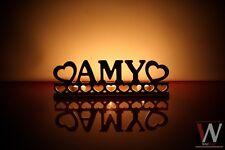 """Personalizado portavelas pequeño """"AMY"""" - cualquier nombre su elección"""