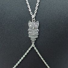 Antique Silver Owl Body Chain Harness