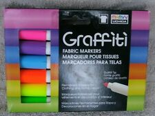 Marvy Uchida Graffiti Farbic Markers-Fluorescent Colors, 6-Pack ~ NEW