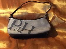Black Tweed and Leather Trim Bag by Pedro Del Hierro *PdH* Spain