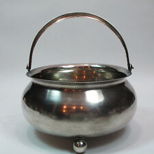 LARGE HEAVY ANTIQUE RUSSIAN 84 SILVER SUGAR BOWL OR CANDY BASKET 232g not scrap