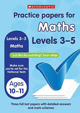 NEW Scholastic KS2 PRACTICE PAPERS - MATHS   Level 3 -  5  SATS TESTS  10-11