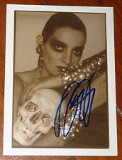 DAVID BAILEY ~ AUTHENTIC HAND SIGNED NPG EXHIBITION POSTCARD 2014 ~ CATHERINE