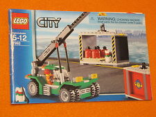 Lego Set 7992 INSTRUCTIONS ONLY City Container Stacker Truck Manual Booklet Book
