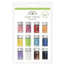 Sugar Coating CHUNKY Glitter Assort 12 4g Bottles Doodlebug