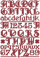 "ABC Designs Gothic Alphabet Machine Embroidery Design in Cross Stitch 5""x7""hoop"