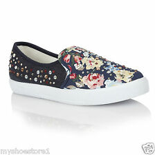 LADIES WOMEN GIRLS SKATER PUMPS SNEAKERS PLIMSOLLS TRAINERS PLATFORM  FLAT SHOES
