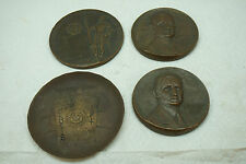 VINTAGE BRONZE MEDALS MEDALLIONS MEDALLIC ART ADDRESSOGRAPH SEA ISLAND BEACH