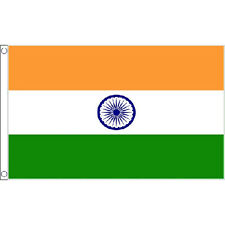 India Large Flag 8Ft X 5Ft Indian Country Banner With 2 Metal Eyelets