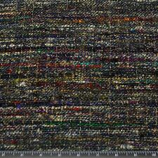 "Heavy weight Tweed Silk Blue Warp 100% Raw Silk Fabric, 48"" W, By Yard (WT-272)"