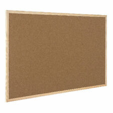 CORK BOARD WOODEN FRAMED PIN MESSAGE PINBOARD NOTICEBOARD MEMO CORKBOARD 90X60CM