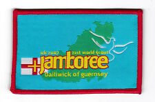 2007 World Scout Jamboree UK / BRITISH GUERNSEY SCOUTS Contingent Patch (RED)